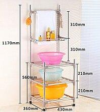Regal Multifunktions-Regal Edelstahl-Montage Badezimmer Shelf Wandhalterung Badezimmer Zubehör ( größe : B1 )