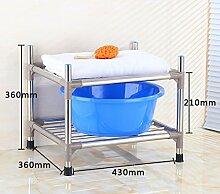 Regal Multifunktions-Regal Edelstahl-Montage Badezimmer Shelf Wandhalterung Badezimmer Zubehör ( größe : A1 )