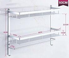 Regal Multifunktions-Regal Platz Aluminium Silber Badezimmer Badezimmer Regal Wandhalter Badezimmer Zubehör ( größe : C2 )