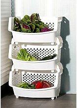 Regal Obst Gemüse Obstküche Regal Aufbewahrung Korb Lager Regalboden Multilayer Supplies Utensilien ( größe : A )