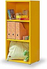Regal orange, Click Regal, 2 EB, Bücherregal, werkzeuglose Montage