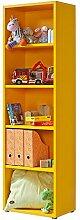 Regal orange, Click Regal: werkzeuglose Montage, Bücherregal orange, 4 EB