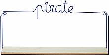 Regal Pirat aus Metalldraht, marineblau