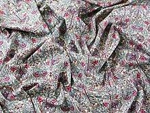 Regal Print Baumwolle Linon Kleid Stoff pink–Meterware