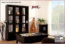 Regal Raumteiler Pinie massiv, schwarzbraun
