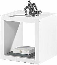 Regal Raumteiler Würfelregal Wandregal SONJA | Weiß Dekor | 1 Fach | B/H/L: 41x41x38 cm