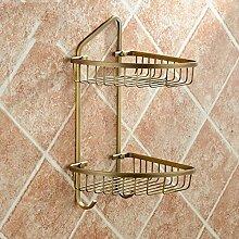 Regal Retro Kupfer antike Badezimmer Badezimmer doppelte Regale hängende Dreieck Korb Badezimmer Badezimmer Zubehör