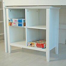 Regal Standregal Aufbewahrungsregal CHALET weiß, Holz 75x38x79cm (HxTxB) 10587