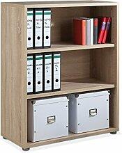Regal Standregal Bücherregal BALKO 11 | 3 Fächer | Braun | Eiche Struktur | BxHxT: 89x113x40 cm