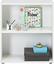 Regal Standregal Bücherregal FIONA | 2 Fächer | Weiß | BxHxT: 70x80x30 cm