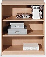 Regal Standregal Bücherregal HENRIK 2 | 3 Fächer | Braun | Buche | BxHxT: 72x84x36 cm