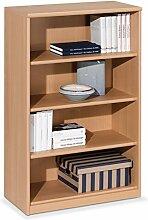 Regal Standregal Bücherregal HENRIK 4 | 4 Fächer | Braun | Buche | BxHxT: 72x110x36 cm