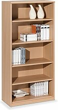 Regal Standregal Bücherregal HENRIK 6 | 5 Fächer | Braun | Buche | BxHxT: 72x148x36 cm