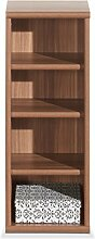 Regal Standregal Bücherregal JEAN | 4 Fächer | Braun | Nussbaum | BxHxT: 28x73x27 cm