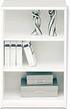 Regal Standregal Bücherregal SARA 1 | 3 Fächer | Reinweiß | BxHxT: 55x84x36 cm