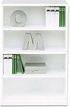 Regal Standregal Bücherregal SARA 4 | 4 Fächer | Reinweiß | BxHxT: 72x110x36 cm