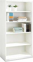 Regal Standregal Bücherregal SARA 6 | 5 Fächer | Reinweiß | BxHxT: 72x148x36 cm