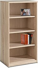 Regal Standregal Bücherregal TIFFI 3 | 4 Fächer | Braun | Eiche sägerau | BxHxT: 55x110x36 cm