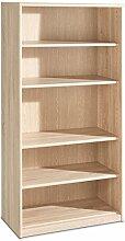 Regal Standregal Bücherregal TIFFI 6 | 5 Fächer | Braun | Eiche sägerau | BxHxT: 72x148x36 cm