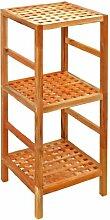 Regal Standregal Hochregal 85 cm aus Walnuss Massivholz für Bad, Wohnzimmer, Sauna, Flur, Diele, Küche, Büro und Kinderzimmer
