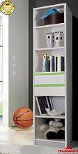 Regal Standregal Kinderzimmer 491900 weiß / apfelgrün