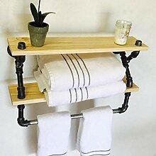 Regal Wand Bücherregale LOFT Handtuchhalter Bad