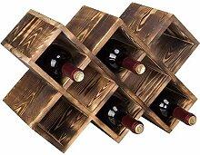 Regal Weinregal aus Holz festes Lagerregal