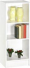 Regal weiß B 40 cm Holz Kinderzimmer Jugendzimmer Wandregal Holzregal Aktenregal Büro Wohn Aufbewahrung Stand Bücher Regalwand