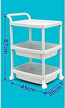 Regale Kunststoff Mobile Lagerung Regal Fruit Shelf Küche Regal Supplies Floor Shelf Trolley ( größe : A )