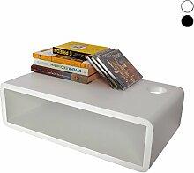 Regale Regal für CD und DVD Player Leser Spieler LDVD (Weiß)