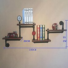 Regale Vintage Industrial Pipes Wohnzimmer Wand