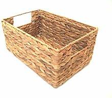 Regalkorb, Allzweckkorb aus Wasserhyazinthe mit