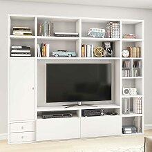 Regalwand für TV Weiß