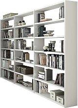 Regalwand in Weiß Hochglanz Wohnzimmer
