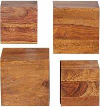Regalwürfel aus Sheesham Massivholz 25 cm