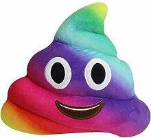 Regenbogen Emoji Kissen Poo Form Weich Emoticon
