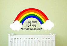 Regenbogen Kinderzimmer Regenbogen Wand Aufkleber