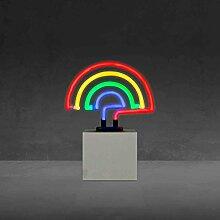Regenbogen Neon Lampe strombetrieben Lights4fun
