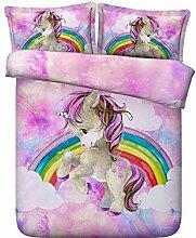 Regenbogen-Pony Der Bettwäsche 3D 3D