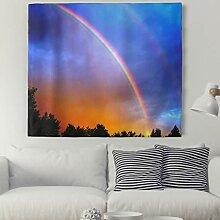 Regenbogen Wald Himmel Wandteppich Natur