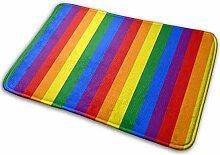 Regenbogen Willkommen Fußmatte Teppich für