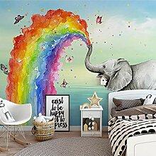 Regenbogenelefant,Tapete Wandtattoo,3D-Tv