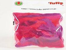 Regenbogenwolle rot / lila