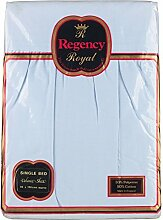 Regency Royal 2-teilig Bett Single Faltenvolant _ P, hellblau, Einzelbe
