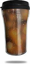 Regenfeuchte Glas-Tropfen-Oberfläche,
