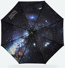 Regenmantel Sonnenschutz kreativer schwarzer Regenschirm Frauen Mode Folding Umbrella-Regenschirm Anti - UV-Sonnenschirm ( Farbe : C )