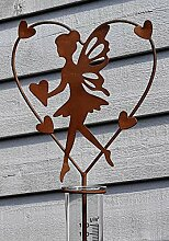 Regenmesser Elfe m.Herz Gartenstecker Metall