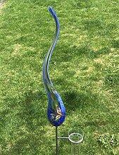 Regenmesser Flamme blau Glas H 179 cm