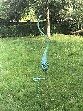 Regenmesser Flamme Jade Glas H 179 cm