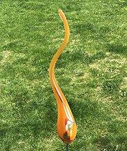 Regenmesser Flamme orange Glas H 179 cm